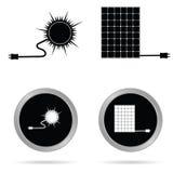 Vecteur à énergie solaire d'art d'icône Image stock