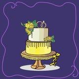 Vecteur à deux niveaux de gâteau de mariage Photographie stock libre de droits