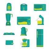 Vecteur à la maison électrique d'appareils de cuisine illustration stock