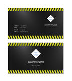 Vecteur élégant de calibre de carte de visite professionnelle de visite image libre de droits