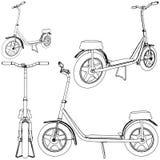 Vecteur 01 de bicyclette de scooter Photographie stock