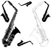 Vecteur 01 de saxophone Photographie stock libre de droits