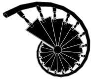 Vecteur 02 d'escalier spiralé Photos stock