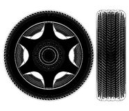 Vecteur 04 de pneu de roue de véhicule Photo stock