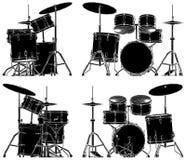 Vecteur 04 de tambours Image libre de droits