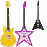 Vecteur 2 de guitares Image stock
