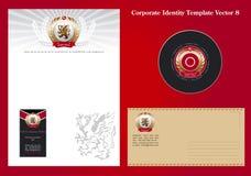 Vecteur 8 de descripteur d'identité de corporation Image stock