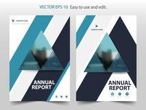 Vecteur abstrait bleu de calibre de conception de brochure de rapport annuel de triangle Affiche infographic de magazine d'insect illustration stock