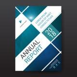 Vecteur abstrait bleu de calibre de conception de brochure de rapport annuel de triangle Affiche infographic de magazine d'insect illustration libre de droits