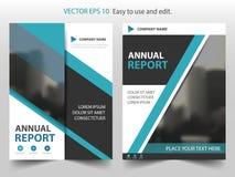 Vecteur abstrait bleu de calibre de conception de brochure de rapport annuel de triangle Affiche infographic de magazine d'insect illustration de vecteur