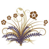 Vecteur abstrait d'automne floral Photos stock