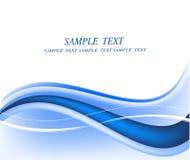 vecteur abstrait de bleu de fond Images stock