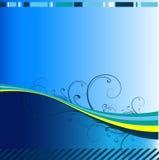 vecteur abstrait de bleu de fond Image libre de droits