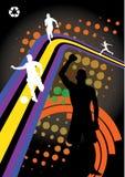Vecteur abstrait de conception de sport Photographie stock