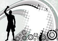 Vecteur abstrait de conception de sport Images stock