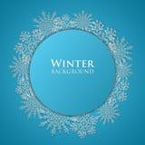 Vecteur abstrait de fond de l'hiver Images libres de droits