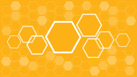 Vecteur abstrait de fond de ruche d'abeille d'hexagone Images stock