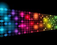 vecteur abstrait de points colorés du point de vue 3D Photos libres de droits