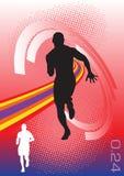 Vecteur abstrait de sport Photo stock