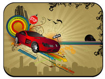 Vecteur abstrait de véhicule Photographie stock libre de droits