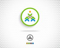 Vecteur abstrait Logo Design Template Images libres de droits
