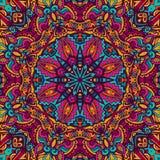 Vecteur abstrait Mandala Background ethnique Illustration Stock