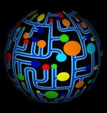 Vecteur abstrait net coloré de globe Photos stock