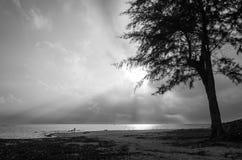 Vecteur abstrait noir et blanc Photo stock