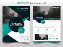 Vecteur abstrait noir vert de calibre de conception de rapport annuel de brochure de cercle Affiche infographic de magazine d'ins illustration de vecteur