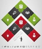 Vecteur abstrait plat d'affaires de flèche d'infographics avec des icônes Photographie stock