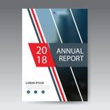 Vecteur abstrait rouge de calibre de conception de brochure de rapport annuel de triangle Affiche infographic de magazine d'insec Photographie stock