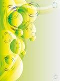Vecteur abstrait vert avec les scintillements et le copyspace illustration libre de droits