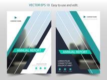 Vecteur abstrait vert de calibre de conception de brochure de rapport annuel de triangle Affiche infographic de magazine d'insect illustration de vecteur
