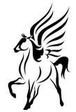 Vecteur à ailes de cheval Photo stock