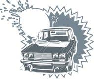 Vecteur ajustant le véhicule de Lada Images libres de droits
