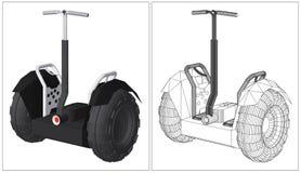 Vecteur alternatif de véhicule de transport Photo stock