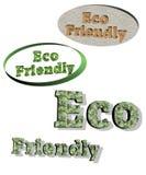 Vecteur amical de drapeaux d'Eco Illustration Stock