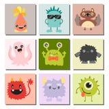 Vecteur animal coloré de bande dessinée de monstre de caractère de créature de diable heureux étranger mignon drôle d'illustratio Image libre de droits