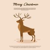 Vecteur animal de renne de bande dessinée de cerfs communs illustration de vecteur