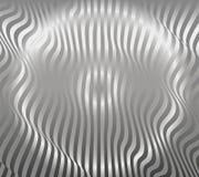 Vecteur argenté abstrait en aluminium de fond de modèle de rayure Photographie stock libre de droits