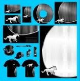 Vecteur argenté de paquet de besiness de cheval Image libre de droits