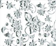 Vecteur argenté fleuri de configuration de fond de fleur Photo libre de droits