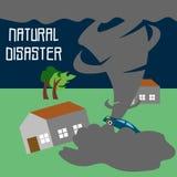 Vecteur Art Logo Template d'illustration de catastrophe naturelle illustration stock