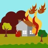 Vecteur Art Logo Template d'illustration de catastrophe naturelle Image libre de droits
