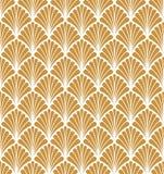 Vecteur Art Nouveau Seamless Pattern floral Texture décorative géométrique de feuilles Rétro fond élégant Photo stock