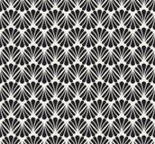 Vecteur Art Nouveau Seamless Pattern floral Texture décorative géométrique de feuilles Rétro fond élégant Photos libres de droits