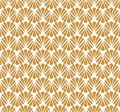Vecteur Art Nouveau Seamless Pattern floral Texture décorative géométrique de feuilles Rétro fond élégant Image stock