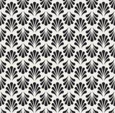 Vecteur Art Nouveau Seamless Pattern floral Texture décorative géométrique de feuilles Rétro fond élégant Illustration de Vecteur