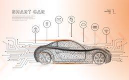 Vecteur autonome de voiture illustration libre de droits
