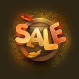 Vecteur Autumn Sale Design Image stock